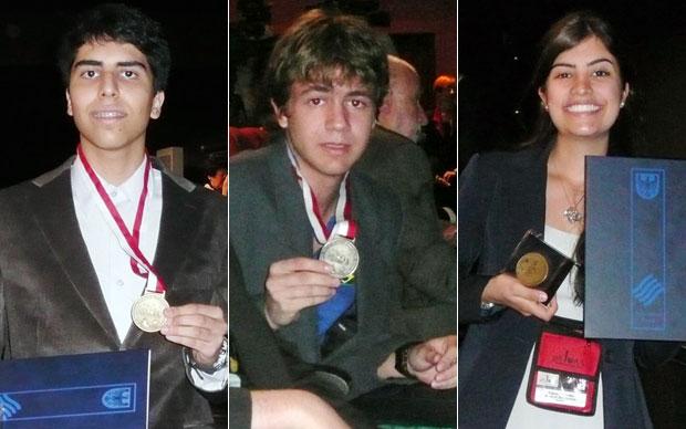 Gustavo Haddad e Ivan Tadeu ganharam medalhas de prata, Tábata Amaral recebeu menção honrosa (Foto: Divulgação)