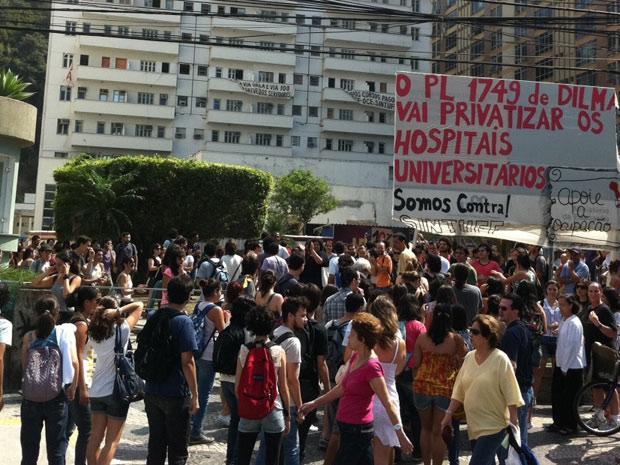 Ocupação na UFF (Foto: Tássia Thum/G1)