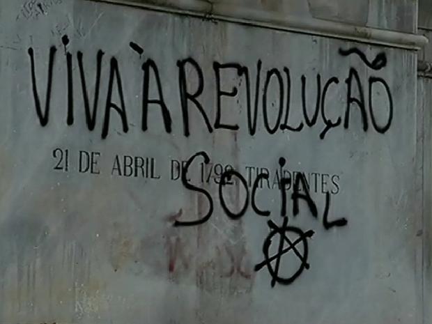 pichação (Foto: Reprodução/TV Globo)