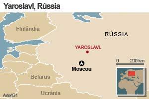 Acidente ocorreu na região de Yaroslavl. (Foto: Editoria de Arte/G1)