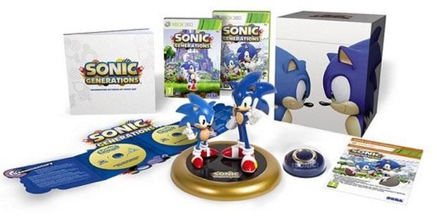Edição especial de 'Sonic Generations' traz estátua com dois Sonics (Foto: Divulgação)