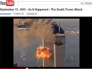 Edição de vídeos mostra reação dos apresentadores de TV ao choque do segundo avião contra o WTC (Foto: Reprodução)