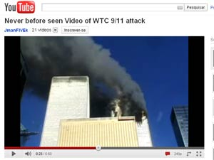Imagem mostra choque do segundo avião contra o WTC (Foto: Reprodução)