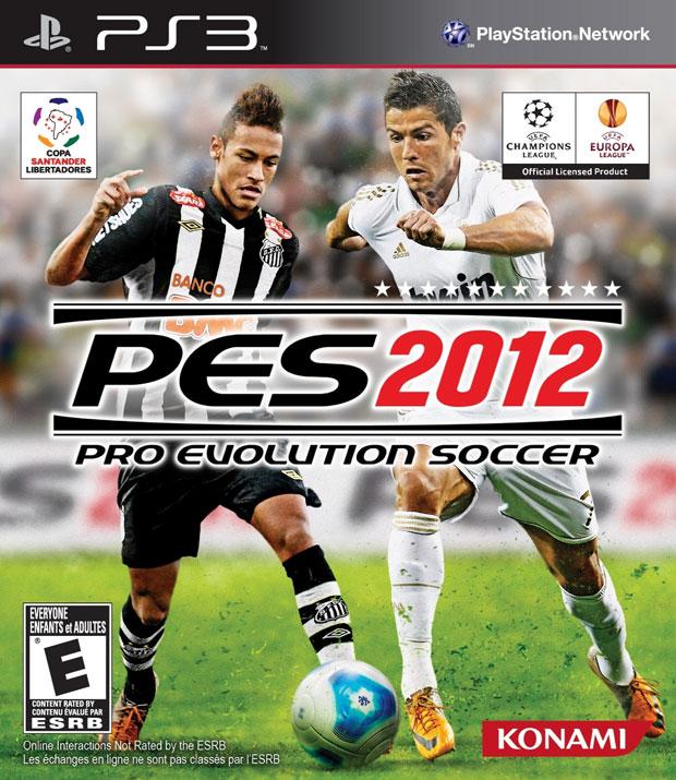 Neymar é o astro da capa de 'PES 2012' (Foto: Divulgação)