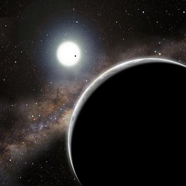 Concepção de um artista de como seria o planeta Kepler-19c (Foto: David A. Aguilar (CfA))