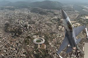Jogador defende o Rio em 'H.A.W.X' (Foto: Divulgação)