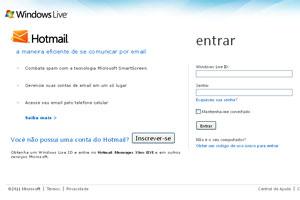 Usuários foram impedidos de acessar suas contas no Hotmail (Foto: Reprodução)