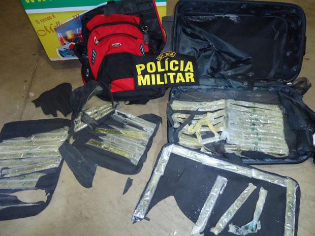 Homem é preso com 2,29 quilos de cocaína líquida em rodoviária de MS, diz polícia (Foto: Divulgação/Polícia Militar )