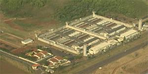 Penitenciária de Serra Azul (SP), onde briga entre presos deixou cinco mortos (Foto: Reprodução/EPTV)