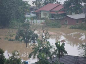 Chuva causa estragos em São João Batista (Foto: Cleiton)