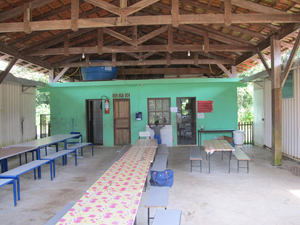 Refeitório da escola indígena (Foto: Juliana Cardilli/G1)