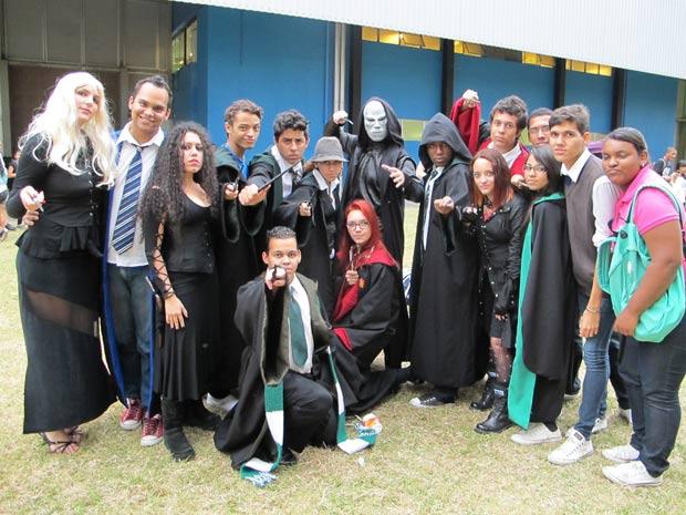 Fãs de Harry Potter (Foto: Carla Meneghini/G1)