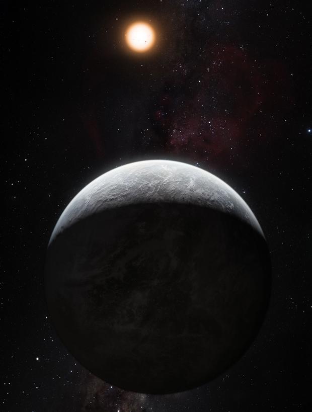 Ilustração mostra seria o planeta HD 85512b, um dos recém-descobertos pelo projeto HARPS. (Foto: M. Kornmesser / ESO)