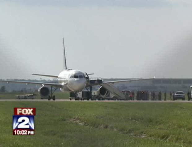 Avião foi desviado para Detroit por segurança. (Foto: Reprodução)