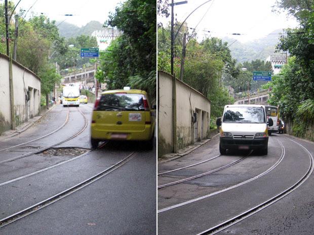 Buraco em rua de Santa Teresa foi tapado após reclamação pela internet, no site do serviço 1746 (Foto: Mylène Neno/G1)