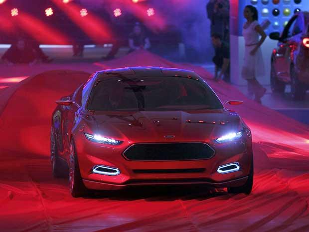 Conceito Evos, no Salão Internacional do Automóvel em Frankfurt. (Foto: Alex Domanski / Reuters)