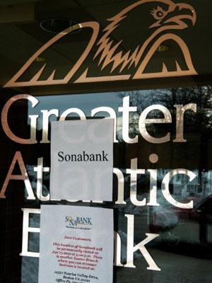 FDIC decretou a falência do Greater Atlantic Bank em 2009 (Foto: AFP)