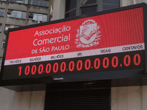 Marco de R$ 1 trilhão foi atingido às 11h31 desta terça-feira (Foto: Luiz Guarnieri/AE)