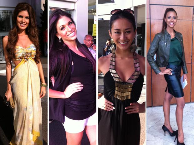 Misses Paraguai, Itália, Japão e Curaçao gostaram do Brasil (Foto: Graziela Salomão/G1)
