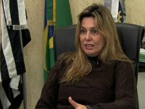 Prefeita de Jandira, Anabel Sabatine, foi afastada (Foto: Reprodução/TV Globo)