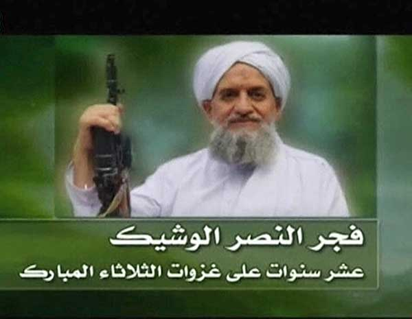 Egípcio Ayman al-Zawahiri, líder da al-Qaeda, em imagem retirada de vídeo divulgado nesta segunda-feira (12). (Foto: Reuters)