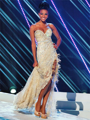 Vestido usado pela Miss Universo durante concurso (Foto: Reuters)