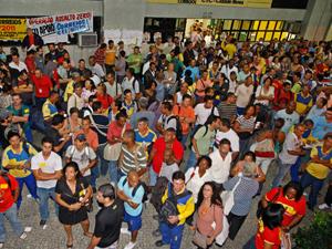Greve dos Correios (Foto: Urbano Erbiste / Ag. O Globo )