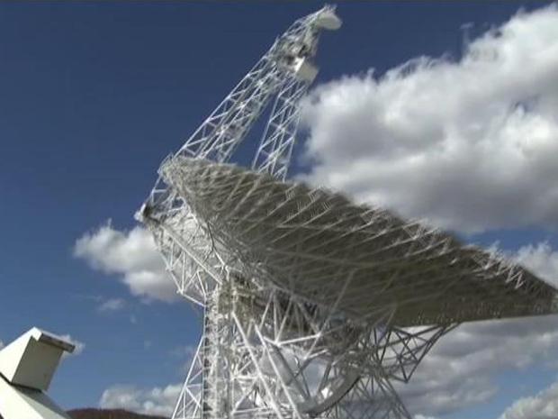 Telescópios sofrem interferência das ondas, que por isso não funcionam numa região da Virgínia Ocidental (Foto: BBC)