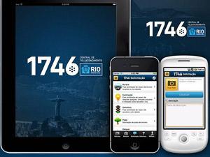 Aplicativo do serviço 1746 pode ser baixado gratuitamente para celulares e smartphones (Foto: Divulgação/Prefeitura do Rio)
