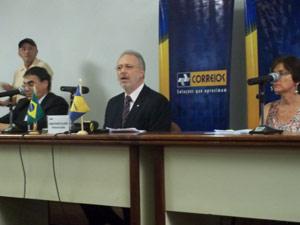 O presidente dos Correios, Wagner Pinheiro de Oliveira, durante entrevista nesta quarta-feira (14) (Foto: Raquel Morais/G1)