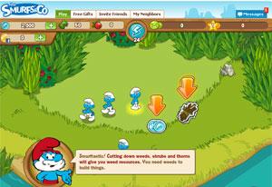 Game baseado nos Smurfs (Foto: Reprodução)