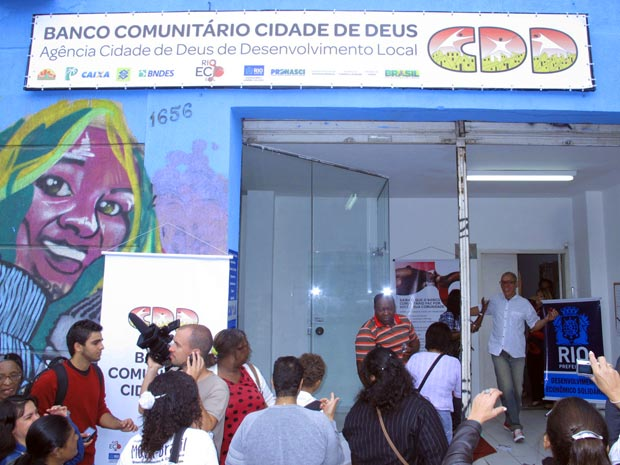 Inauguração do Banco Cidade de Deus (Foto: Bernardo Tabak/G1)