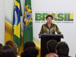 A presidente Dilma Rousseff, durante evento de educação infantil do PAC 2, no Palácio do Planalto. (Foto: Roberto Stuckert Filho/PR)