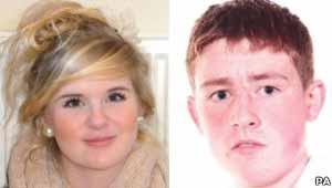 Os adolescentes Natasha MacBryde e Jordan Cooper, vítimas dos insultos e zombarias de Duffy (Foto: BBC)