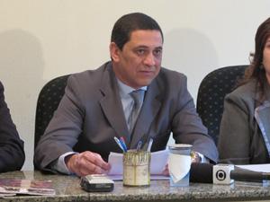 O presidente da Liga anunciou o concurso público nesta quinta (Foto: Clara Velasco/G1)