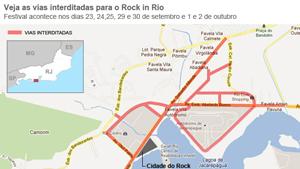 Saiba como chegar ao Rock in Rio (Arte/G1)