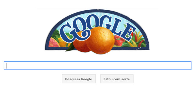 O Google homenageou cientista húngaro Albert Szent-Györgyi, que completaria 118 anos nesta sexta-feira (16). Ele recebeu o Prêmio Nobel por ter descoberto a vitamina C. O logo especial publicado pelo Google tem desenhos de laranjas e outras frutas. Szent-Györgyi recebeu o Prêmio Nobel de Fisiologia/Medicina em 1937. (Foto: Reprodução)