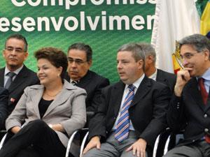 Dilma Rousseff anuncia investimentos para obras no metrô de BH (Foto: Humberto Trajano / G1)