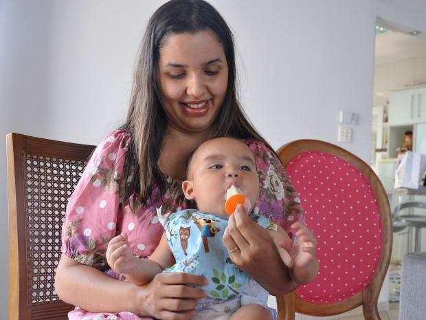 picolé leite materno (Foto: Tatiane Queiroz/ G1 MS)