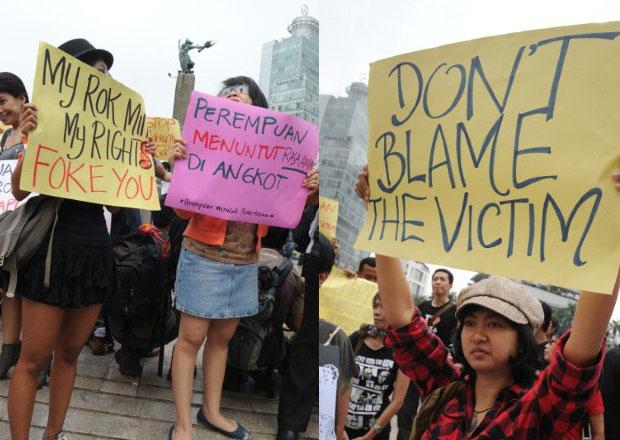 Protesto Indonésia Mulheres Roupas (Foto: Romeo Gacad/AFP)