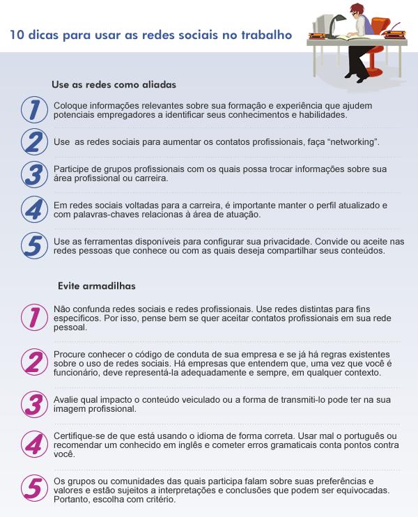10 dicas para usar as redes sociais no trabalho