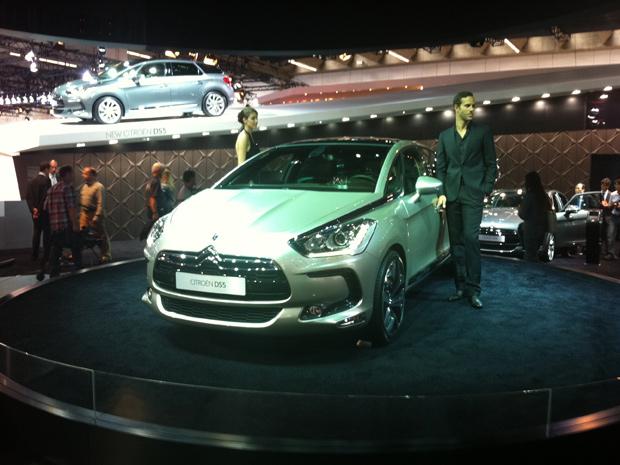 Citroën DS5 foi apresentado em Frankfurt; grife é inspirada nas criações da moda francesa (Foto: Priscila Dal Poggetto/G1)