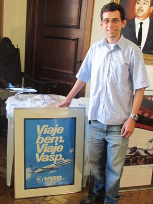 Fernando Vicente arrematou três lotes no leilão (Foto: Gabriela Gasparin/G1)