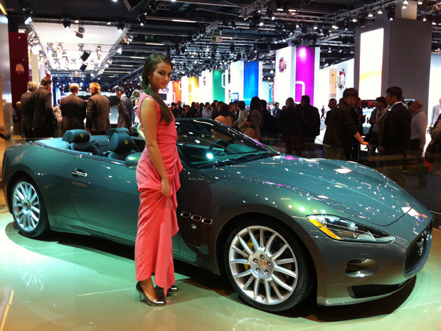Maserati e Fendi criam edição especial do GranCabrio (Foto: Priscila Dal Poggetto/G1)