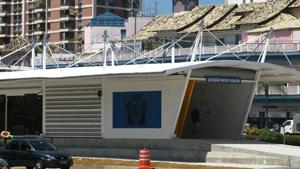 Prefeitura mostra a 1ª estação do corredor expresso na Barra  (Thamine Leta/G1)