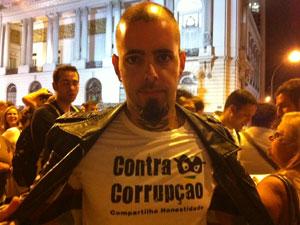 Tico Santa Cruz participou do evento (Foto: Tássia Thum/G1)