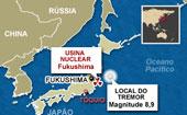 mapa fukushima (Foto: Editoria de Arte/G1)