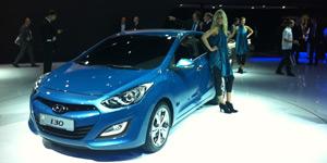 Novo Hyundai i30 traz as novas linhas da marca ao salão (Priscila Dal Poggetto/G1)