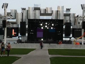 A dois dias para início do Rock in Rio, Palco Mundo já está pronto (Foto: G1)