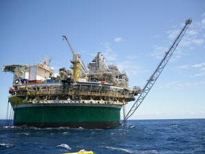 Produção de petróleo da Petrobras em águas profundas no Nordeste  (Foto: Divulgação)